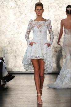 vestido de novia para mujeres con piernas cortas