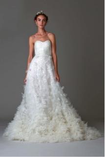 vestido de novia look romántico