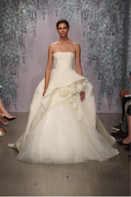 vestido de novia dramático y sofisticado