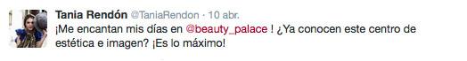 testimonio de buen servicio de Beauty Palace de Tania Rendón